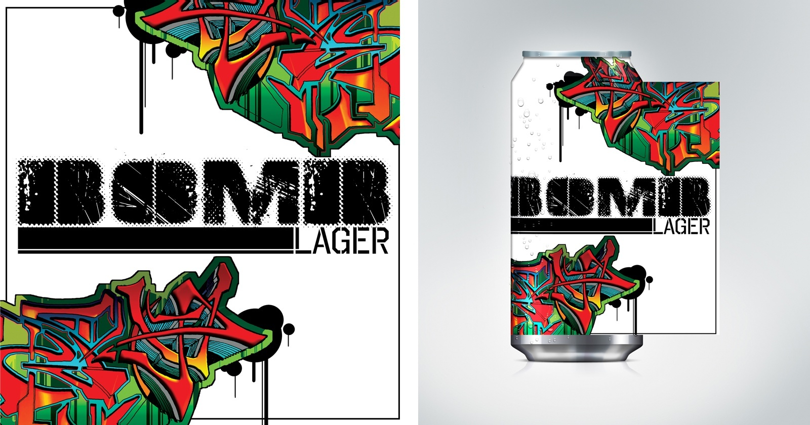 REEVOLUTION | Bomb Lager - Startup Branding and Packaging Concepts, Graffiti Can