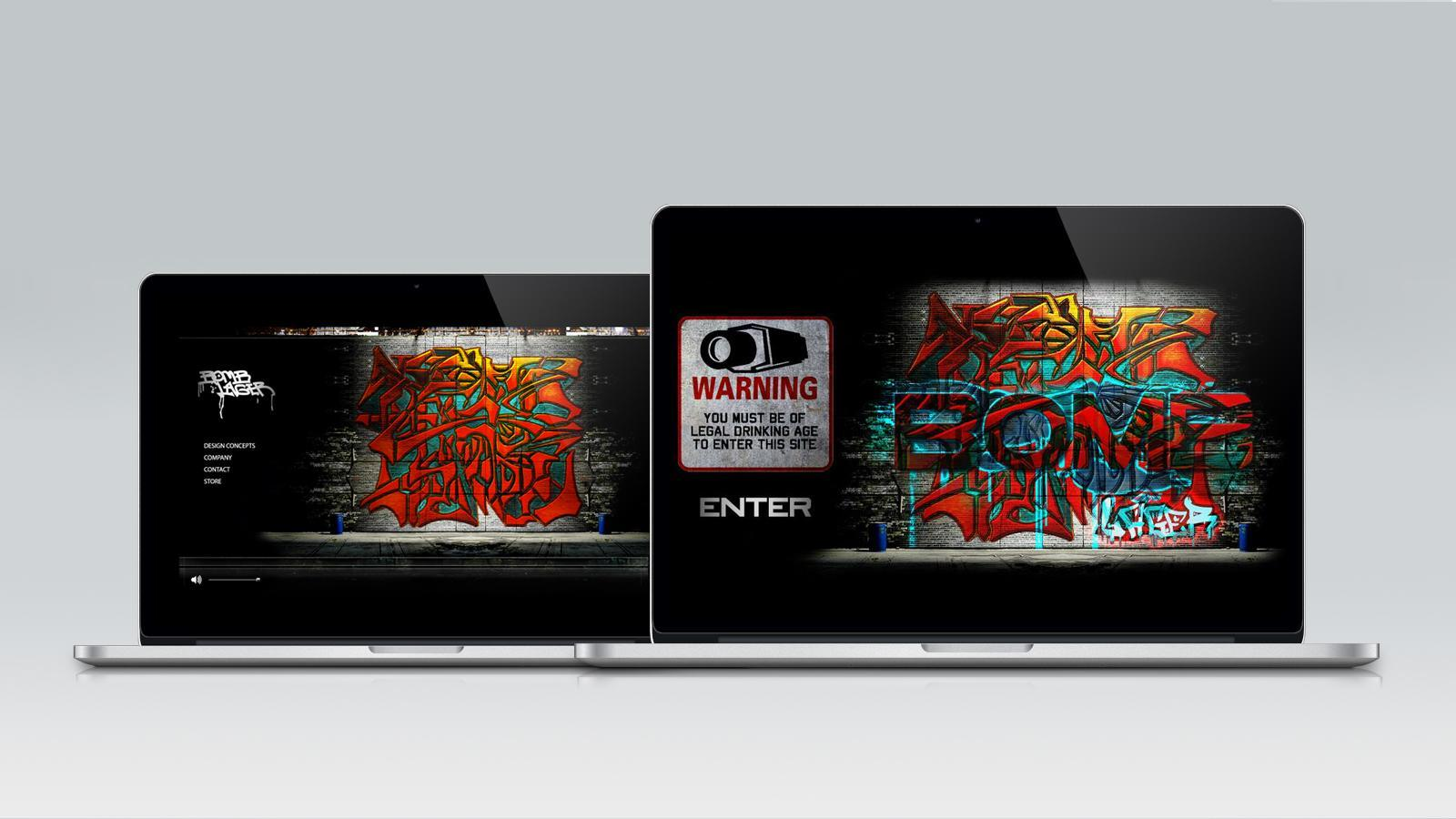 REEVOLUTION | Bomb Lager - Startup Branding and Packaging Concepts, Graffiti Website