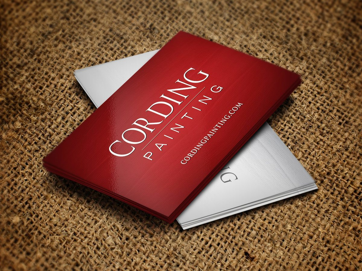 RE EVOLUTION // Cording Painting - Business Card Design