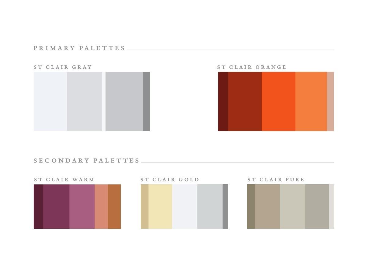 RE EVOLUTION // Saint Clair - Branding - Color Palettes