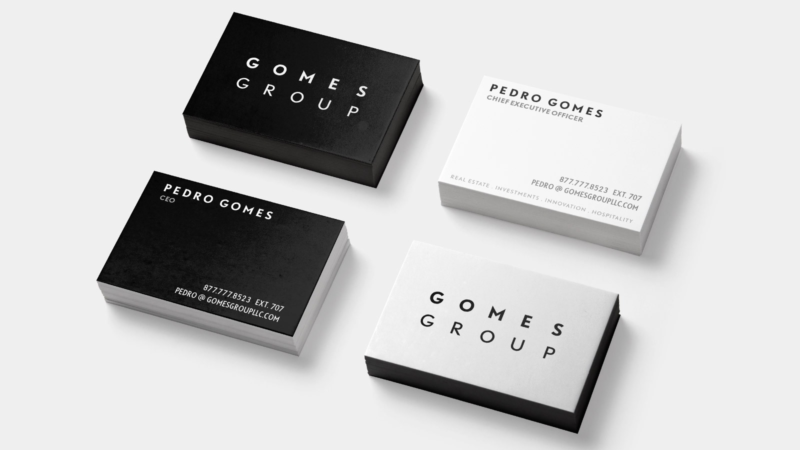 RE EVOLUTION // Real Estate Business Card Design