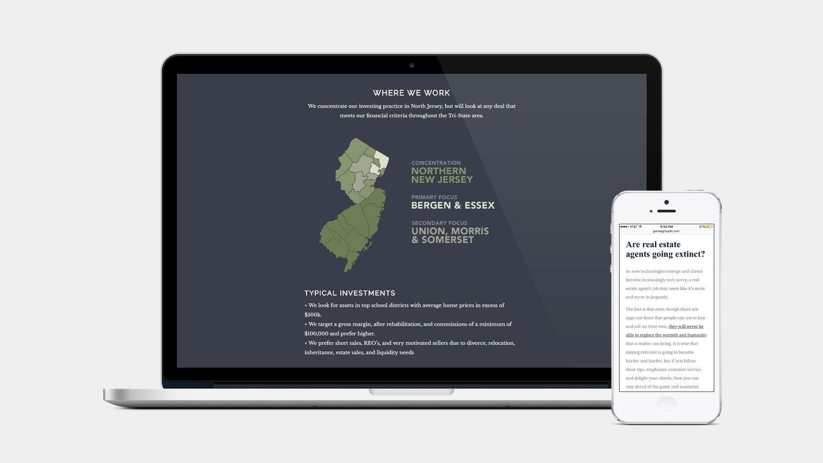 RE EVOLUTION // Real Estate Web Design